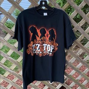 Gildan ZZ Top 2015 Black Short Sleeve Shirt Large